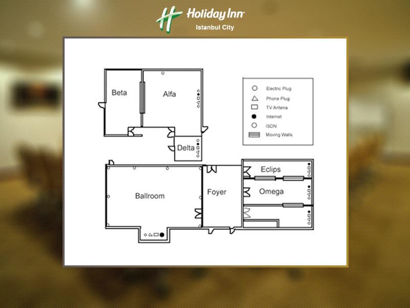 holiday inn hotel istanbul city Delta Toplantı Salonu
